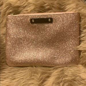 Kate Spade Rose Gold Glitter Pouch
